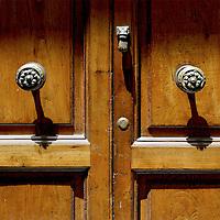 Wood doors of Sorrento, Italy