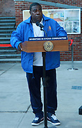 BROOKLYN, NEW YORK: NOVEMBER 6, 2020-  Actor Tracey Morgan, along with New York City Mayor Bill De Blasio, New York City Council Member Robert Cornergy, U.S. Congress Nydia Velázquez, Tahirah Moore others attend the official ribbon cutting ceremony opening the new New York City Housing Authority (NYCHA) Marcy Houses Community Center on November 6, 2020 in the Bedford Stuyvesant section of Brooklyn, New York City.   Photo by Terrence Jennings/terrencejennings.com