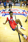 November 26 2014: Arizona guard and tournament MVP Stanley Johnson smiles while waiting to be interviewed during the Championship game of the Maui Invitational at  Lahaina Civic Center on Maui, HI.