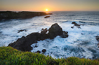Sunset over Mendocino Headlands, California