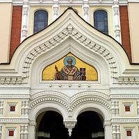 Europe, Estonia,Tallinn. Alexander Nevsky Cathedral in the old city of Tallinn, a UNESCO World Heritage Site.