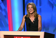 Caroline Kennedy speaks at the Democratic Convention in Denver, Colorado on August 25,2008. Photograph by Dennis Brack