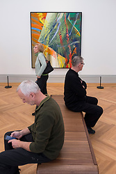 Painting by Gerhard Richter   at new Museum Barberini in Potsdam Germany