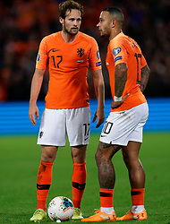 10-10-2019 NED: Netherlands - Northern Ireland, Rotterdam<br /> UEFA Qualifying round Group C match between Netherlands and Northern Ireland at De Kuip in Rotterdam / Daley Blind #17 of the Netherlands, Memphis Depay #10 of the Netherlands