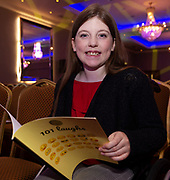 """07/04/2019 repro free:  Cora Devane from 5th Class Brierfield NS with her book """"101 Laughs"""" at Write a Book organised by The Galway Education centre and help at the Salthill Hotel  . Photo: Andrew Downes, Xposure"""