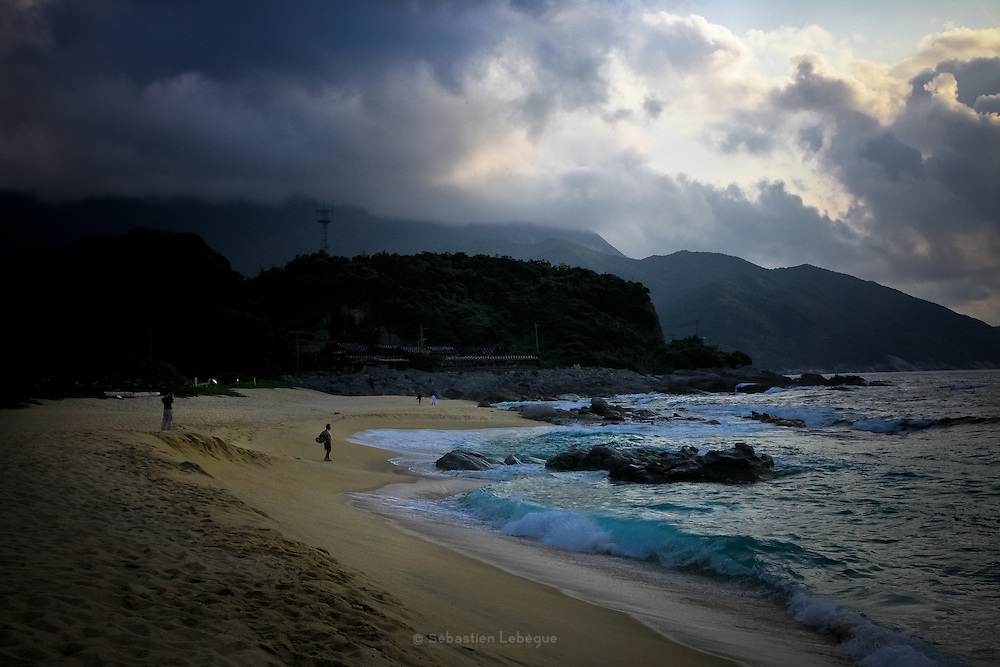 Japan Yakushima Island - The turtle Nagatahama beach. Every year in summer, sea turtles come on the beach for nesting and laying.
