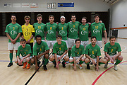 Central players pose for a team photo before the Mens Futsal Superleague match, Central v Capital, Pettigrew Green Arena, Napier, Saturday, September 28, 2019. Copyright photo: Kerry Marshall / www.photosport.nz
