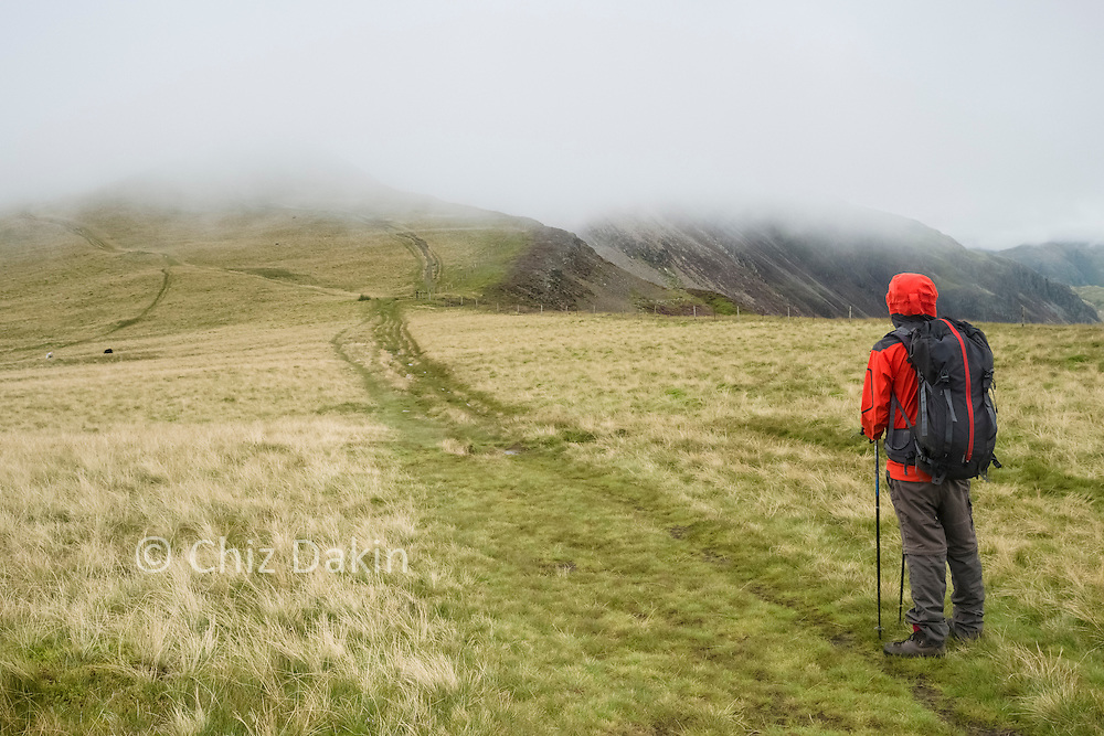 Fleeting view towards Hindscarth - this isn't what was forecast!