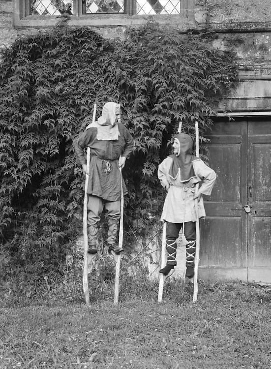 Stilt Walkers, Lacock Abbey Pageant, Wiltshire, England, 1932