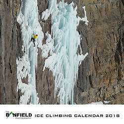 The cover of my 2018 Ice Climbing Calendar. From sales of the Calendar I was able to donate $1800 CAD to the Access Fund before their cutoff date to have donations doubled on 15 December meaning $3600 to help support the Access Fund.