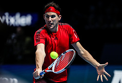 2017?11?17?.    ?????4???——ATP????????????.       11?17?????????.       ???????????ATP???????????????????????????2?0??????????.       ???????????????.(SP) BRITAIN-LONDON-TENNIS-ATP FINALS-GOFFIN VS THIEM.(171117) -- LONDON, Nov. 17, 2017  Dominic Thiem of Austria competes during the singles round-robin match against David Goffin of Belgium during the Nitto ATP World Tour Finals at O2 Arena in London, Britain on Nov. 17, 2017. David Goffin won 2-0. (Credit Image: © Tang Shi/Xinhua via ZUMA Wire)