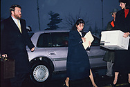 Lorena Bobbit arrives at the Prince William Couinty court house June 23, 1993<br />Photo by Dennis Brack