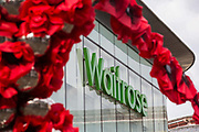 "Remembrance poppies are displayed in front of a branch of British supermarket chain Waitrose and Partners on the second day of England's second coronavirus lockdown on 6 November 2020 in Windsor, United Kingdom. Only retailers selling ""essential"" goods and services are permitted to remain open to the public during the second lockdown provided that they follow coronavirus guidelines and make their premises COVID-19 secure."