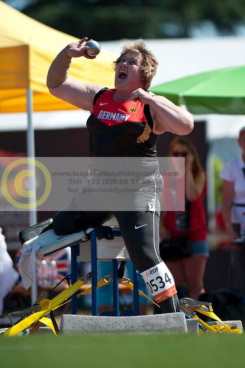WYLUDDA Ilke, GER, Shot Put, F58, 2013 IPC Athletics World Championships, Lyon, France