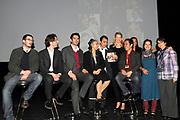 Mabel bij A MATTER OF ACT NIGHT.<br /> <br /> Op zaterdagavond 27 was in Theater aan het Spui een bijzondere avond plaats; de eerste A Matter of ACT Night.<br /> <br /> Op de foto:  Prinses Mabel van Oranje met vooraanstaande activisten, onder wie Somaly Mam, Shadi Sadr, The Yes Men and en de Cubaanse Laura Pollán-Toledo