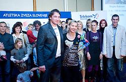 Primoz Kozmus and Brigita Bukovec at Best Slovenian athlete of the year ceremony, on November 15, 2008 in Hotel Lev, Ljubljana, Slovenia. (Photo by Vid Ponikvar / Sportida)