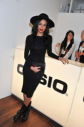 SARAH-JANE CRAWFORD at a party to celebrate the launch of the Casio Tokyo watch in association with Flashtrash.com held at itsu, 10a Blandford Road, London W1 on 28th January 2013.