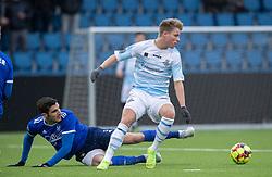Alexander Holst (FC Helsingør) og Nemanja Cavnic (Fremad Amager) under træningskampen mellem FC Helsingør og Fremad Amager den 18. januar 2020 på Helsingør Ny Stadion (Foto: Claus Birch)