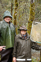 Portrait of scientists at Oregon Hatchery Research Center. Fall Creek, OR.