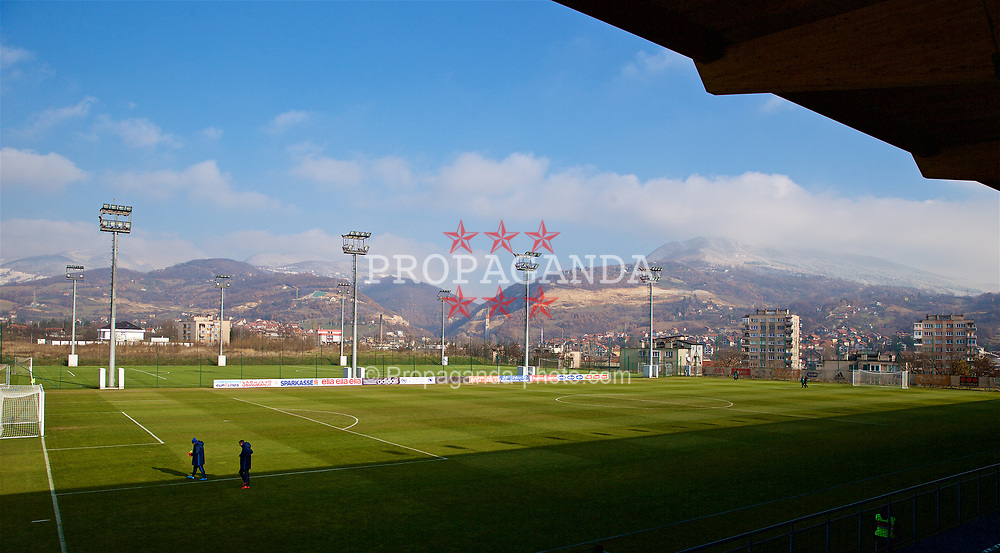 ZENICA, BOSNIA AND HERZEGOVINA - Tuesday, November 28, 2017: A general view of the stadium before the FIFA Women's World Cup 2019 Qualifying Round Group 1 match between Bosnia and Herzegovina and Wales at the FF BH Football Training Centre. (Pic by David Rawcliffe/Propaganda)