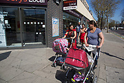 Multicultural Stratford in the Borough of Newham in East London, UK. Newham is the most diverse community in London, with only 16% of population being white British, with the vast majority of people coming from Asian and other ethnic backgrounds.