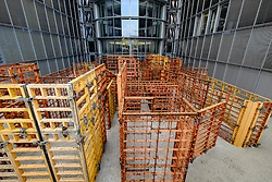 Art installation caled BFD bundig fluchtend dicht by Franka Hornschemeyer at Paul Lobe Haus government office building in Berlin Germany