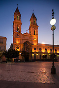Iglesia de San Antonio and Plaza de San Antonio in Cadiz, Spain