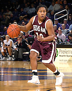 Texas A&M guard A'Quonesia Franklin during first half action against Kansas State at Bramlage Coliseum in Manhattan, Kansas, January 6, 2007.  K-State upset the 17th ranked Aggies 48-45.