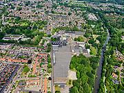 Nederland, Overijssel, Gemeente Hellendoorn; 21–06-2020; Twente, Nijverdal. Fabriek van TenCate Outdoor Fabrics BV, fabricant van onder andere tentdoek. Rechts rivier de Midden-Regge.<br /> Twente, Nijverdal. Factory of TenCate Outdoor Fabrics BV, manufacturer of tent cloth, among other things.<br /> <br /> luchtfoto (toeslag op standaard tarieven);<br /> aerial photo (additional fee required)<br /> copyright © 2020 foto/photo Siebe Swart