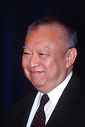 WASHINGTON, DC - September 11: Tung Chee Hwa, Chinese appointed head of Hong Kong at a press conference in Washington, DC. September 11, 1997  (Photo RIchard Ellis)