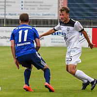 01.08.2020, C-Team Arena, Ravensburg, GER, WFV-Pokal, FV Ravensburg vs SSV Ulm 1846 Fussball, <br /> DFL REGULATIONS PROHIBIT ANY USE OF PHOTOGRAPHS AS IMAGE SEQUENCES AND/OR QUASI-VIDEO, <br /> im Bild Thomas Zimmermann (Ravensburg, #11), Johannes Reichert (Ulm, #5)<br /> <br /> Foto © nordphoto / Hafner