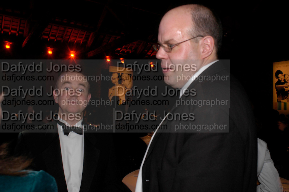 Ian Hislop and Mark Lawson. 2004 Whitbread Book Awards. The Brewery, Chswell st. London EC1. 25 January 2005. ONE TIME USE ONLY - DO NOT ARCHIVE  © Copyright Photograph by Dafydd Jones 66 Stockwell Park Rd. London SW9 0DA Tel 020 7733 0108 www.dafjones.com