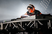 Skrillex performing at the Music Hall of Williamsburg as part of his 2014 Brooklyn takeover series on February 11, 2014.