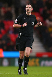 Referee Chris Kavanagh during the Premier League match at the bet365 Stadium, Stoke.