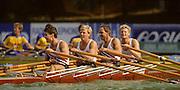 Bled, Slovenia, YUGOSLAVIA.  NOR M4X, Bow. .Audun HADLER-OLSEN, Alf HANSEN, Kjell VOLL  stroke, Per SAETERSDAL (s)1989 World Rowing Championships, Lake Bled. [Mandatory Credit. Peter Spurrier/Intersport Images]