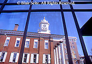 PA Historic Places, Franklin Co. Courthouse, City Square, Reflection, Chambersburg, PA