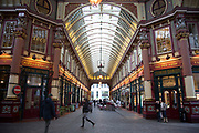 Leadenhall Market in the City of London. Located in Gracechurch Street, the market dates back to the fourteenth century. There are cheesemongers, butchers and florists. Originally a meat, game and poultry market, it stands on what was the centre of Roman London. Designed in 1881 by Sir Horace Jones.