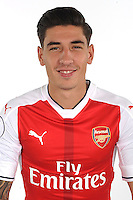 ST ALBANS, ENGLAND - AUGUST 03: (EXCLUSIVE COVERAGE)  Hector Bellerin of Arsenal at the 1st team photocall at London Colney on August 3, 2016 in St Albans, England.  (Photo by Stuart MacFarlane/Arsenal FC via Getty Images)