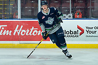 KELOWNA, BC - JANUARY 24: Matthew Rempe #32 of the Seattle Thunderbirds warms up on the ice against the Kelowna Rockets at Prospera Place on January 24, 2020 in Kelowna, Canada. (Photo by Marissa Baecker/Shoot the Breeze)