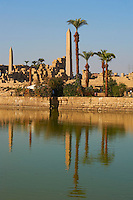 Egypte, Haute Egypte, vallée du Nil, Louxor, Karnak, classé Patrimoine Mondial de l'UNESCO, temple dédié au Dieu Amon, obélisque de Hatchepsout // Egypt, Nile Valley, Luxor, Thebes, Karnak Temple, UNESCO World Heritage Site, Obelisks of Hatshepsut