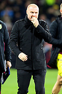 Burnley Manager Sean Dyche during the Premier League match between Burnley and Manchester City at Turf Moor, Burnley, England on 3 December 2019.