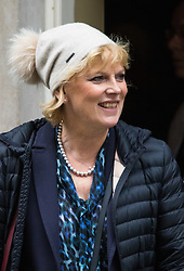 Downing Street, London, November 17th 2015. Small Business Minister Anna Soubry leaves 10 Downing Street following the weekly cabinet meeting.
