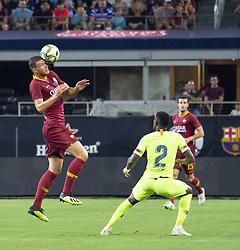 "July 31, 2018 - Arlington, Texas, U.S.A - A.S. Roma player attempting to stopping the ball, while #2 Ã'NÆ'LSON SEMEDOÃ"" looks on (Credit Image: © Hoss McBain via ZUMA Wire)"