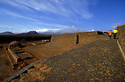 Sao Filipe's fortress in Cidade Velha. Cidade Velha  was the first capital of Cape Verde then changed to Cidade da Praia after being pillaged by French pirates.