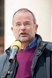 Labour MP for Sheffield Central. PPS to Shadow Foreign Secretary, Paul Blomfield,  addresses the rally held in Sheffield on Saturday 9 April, to protest against the Department for Business, Innovation and Skills (BIS) announcement that it will close BIS Sheffield, its biggest office outside London.<br /> <br />  09 April 2016<br />  Copyright Paul David Drabble<br />  www.pauldaviddrabble.photoshelter.com<br />  www.pauldaviddrabble.co.uk