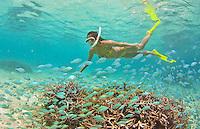 Guam Snorkeling at Ypao Beach at the Tumon Bay Marine Preserve