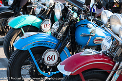 John Bartman's 1940 Harley-Davidson ULH Flathead in the Cross Country Chase motorcycle endurance run from Sault Sainte Marie, MI to Key West, FL (for vintage bikes from 1930-1948). Stage 4 saw a 315 mile ride from Urbana, IL to Bowling Green, KY USA. Monday, September 9, 2019. Photography ©2019 Michael Lichter.