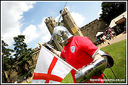 A Knight picture celebrating St George's Day. Picture by Shaun Fellows/Shine Pix Ltd....