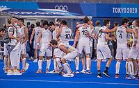 TOKIO -  . Vreugde bij de Belgen na  de hockey finale mannen, Australie-Belgie (1-1), België wint shoot outs en is Olympisch Kampioen,  in het Oi HockeyStadion,   tijdens de Olympische Spelen van Tokio 2020.   . COPYRIGHT KOEN SUYK