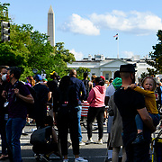 Protests continue on Sunday at Washington DC's Lafayette Park, in response to the murder of George Floyd in Minneapolis. Various police agencies kept the protesters in the park, preventing them from getting close to the White House.